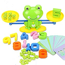 stem toy counting frogs balance game
