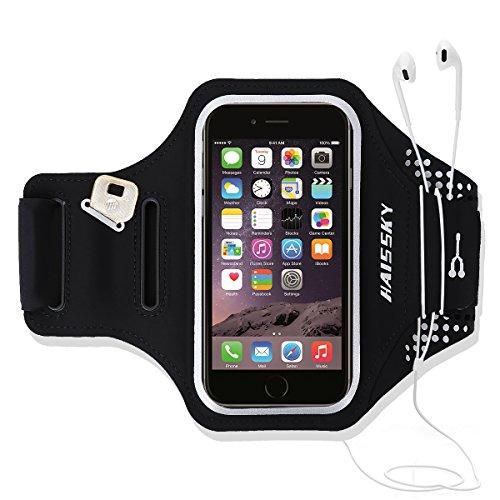 Running Sportarmband Handyhülle for iPhone 6/6s/7/8, Sport Armband with Kredit Karten Halter, Kompatibel mit Samsung, Galaxy, Huawei, Ideal für Joggen Laufen Wandern Radfahren