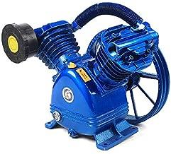 5.5HP 21cfm 115PSI Air Compressor Pump Head V Type Twin Cylinder Air Compressor Pump Head Single Stage Replacement Universal Single Air Compressor Pump Head