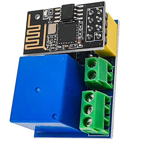 AZDelivery ESP8266-01S ESP-01 Wlan WiFi Modul 5V mit Relais Adapter kompatibel mit Arduino inklusive E-Book!