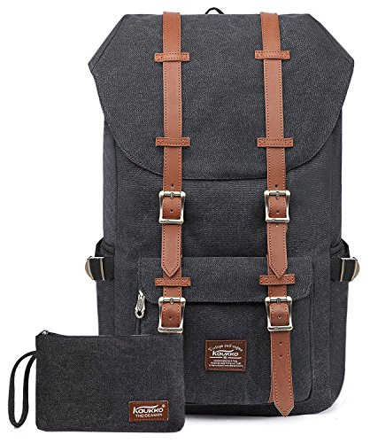 KAUKKO Backpack Mochila tipo casual, 15'', 47 cm, 22.4 liters, Verde (Nylon Army Green ), Negro (Cschwarz 2Pcs)