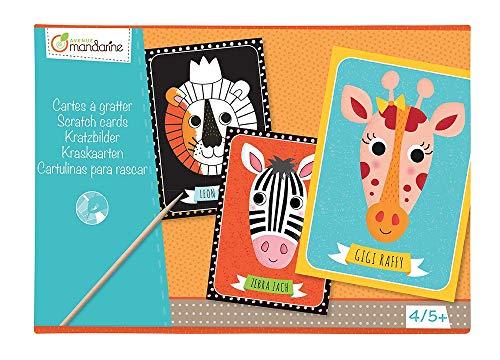 Avenue Mandarine KC016O - Une boite créative comprenant 4 cartes à gratter 21x15 cm (notice incluse)