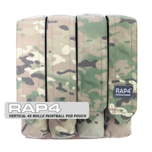 Rap4 Vertical 4X MOLLE P90 Paintball Pod Pouch
