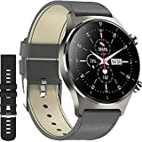 Smart Watch for iPhone Compatible Android iOS Phones,XJWATCH Smartwatch Fitness Tracker with Heart Rate Monitor,1.28 Inch Touch Screen Activity Tracker Smart Watches for Men Women,IP68 Waterproof-Grey
