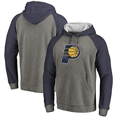 Sudadera con Capucha para Hombre, NBA Basketball Indiana Pacers Camisa Deportiva Manga Larga Jersey con Estampado Informal Suéter Traje De Entrenamiento Superior Al Aire Libre,Dark Gray,XXL