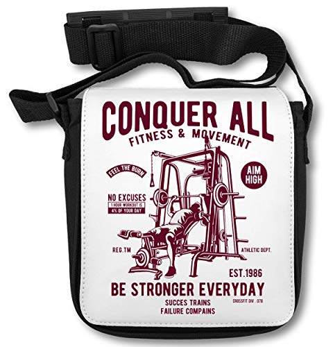 Conquer All Fitness and Movement Be Stronger Everyday Sporstman Schultertasche