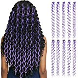 10pieces Colored Clip in Hair Extensions 24'Colorful...