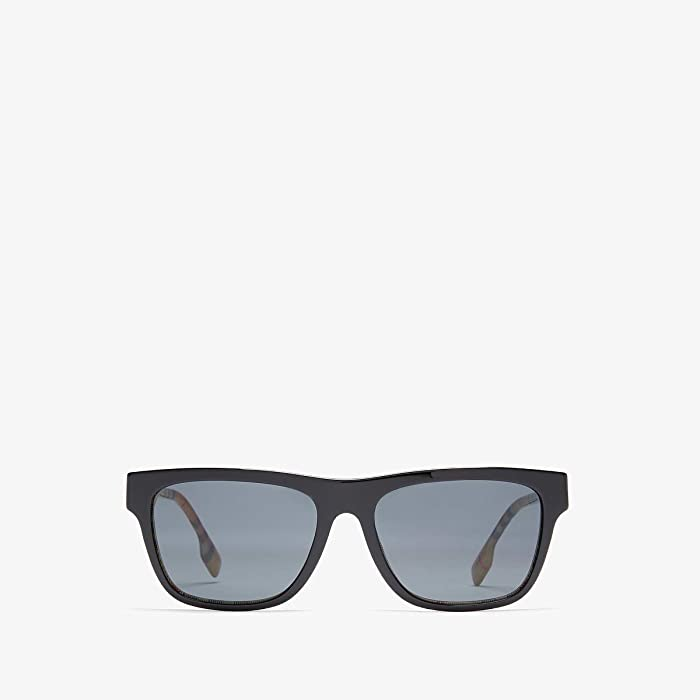 Burberry  0BE4293 (Top Black/Vintage Check/Grey Gradient) Fashion Sunglasses