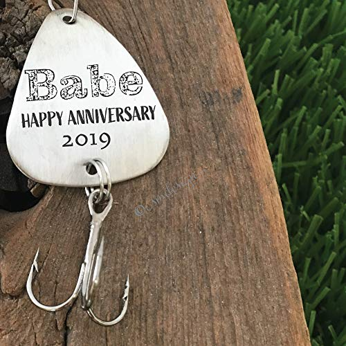 Happy Anniversary- Babe Fishing Lure Anniversary Gift For Husband Men's Gift Boyfriend Personalized
