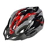 Jaysis Fahrradhelm für Damen Herren Kinder Specialized Cycle Helm mit Sicherheitsleuchte Integrally Bike Helm mit Visier und Liner, Sicherer Sonnenschutz Rollhelm Rennradhelm Skaterhelm (rot)