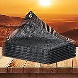90% Toldo Vela de Sombra Red de Sombreado Negra Protección Solar Hoja de Lona Engrosamiento Cifrado Sombra Para El Hogar Planta de Patio Aislamiento Térmico del Coche Malla Sombreadora 2x4m 3x6m