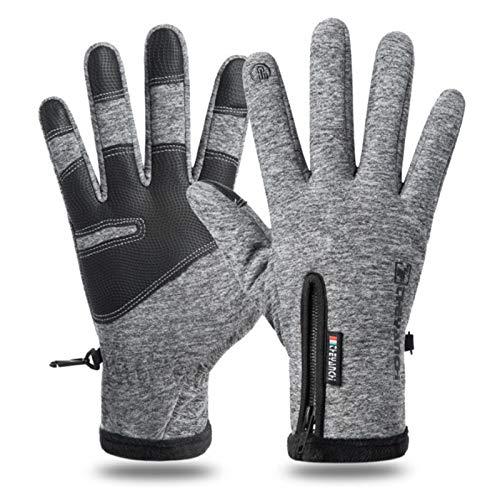 xiaode Winter Thermo-Screen-Handschuhe Männer Frauen - Anti-Rutsch-Grip - elastische Bündchen - Warm Lining - dehnbares Material (Size : XXL)