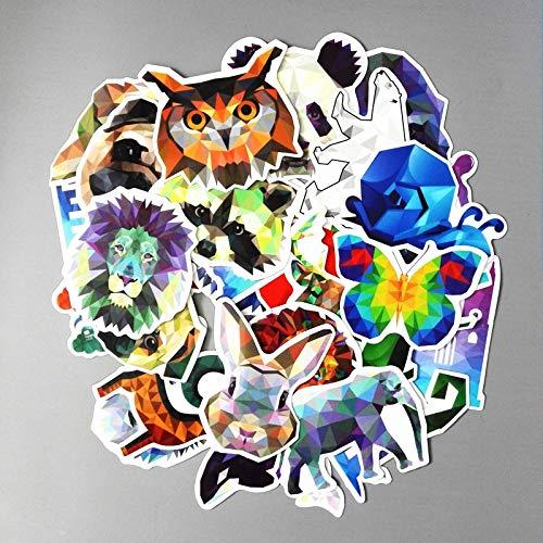 BLOUR TD ZW 35 Stück/Los Galaxy Farbe Tier Aufkleber gemischt lustig für Auto Laptop Fahrräder Rucksack Notebook DIY wasserdichte Aufkleber