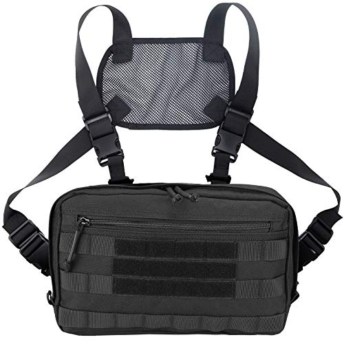 ProCase Tactical Chest Bag, Hunting Chest Front Rig Pouch...