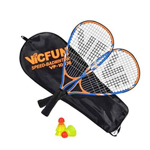 VICFUN Speed-Badminton 100 Set Junior - 2 Badmintonschläger, 3 Bälle und eine hochwertige Badmintontasche