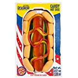 Raindrops Gummy Candy Hot Dog with 20 Gummy Candies - Yummy Gummy Food Looks Just Like a Hotdog - 3.5 Ounces of Gummy Buns, Hot Dogs, Pickles, Ketchup and Mustard - Unique and Edible Gift