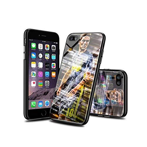 BaiGXCen Compatibile con iPhone 8 Plus Cover, iPhone 7 Plus Cover, Modello Design, Vetro temperato + Morbido Silicone TPU Antiurto Custodia Protettiva Cover per iPhone 8 Plus/iPhone 7 Plus #B007