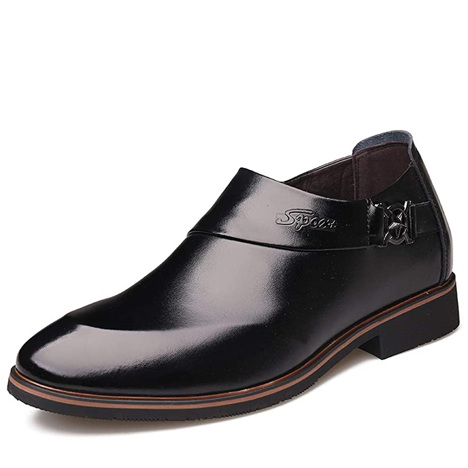 Respctful? Men's Leather Dress Shoes Slip On Loafer Shoes Mens Comfortable Business Formal Extra Wide Oxfords Shoes