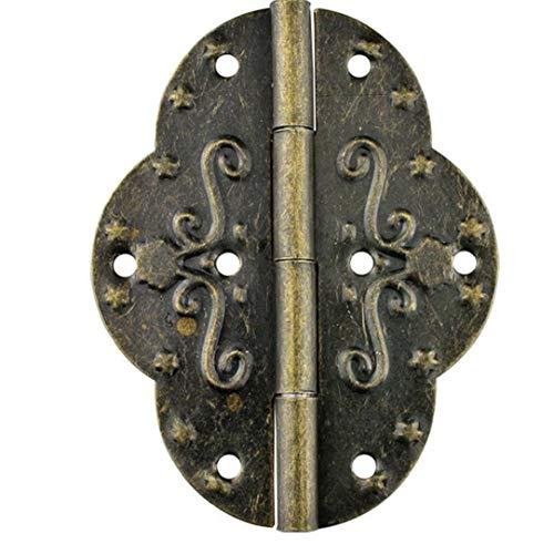 Ruluti 4pcs Bisagras Antiguo Retro De La Vendimia para La Joyería De Madera Caja De Herramientas Caja De Gabinete Armario Pecho, 69x53mm