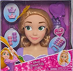 Style your favorite Disney Princess- Rapunzel The hairstyling options are as endless as your imagination Includes 13 share and wear accessories Ages 3+