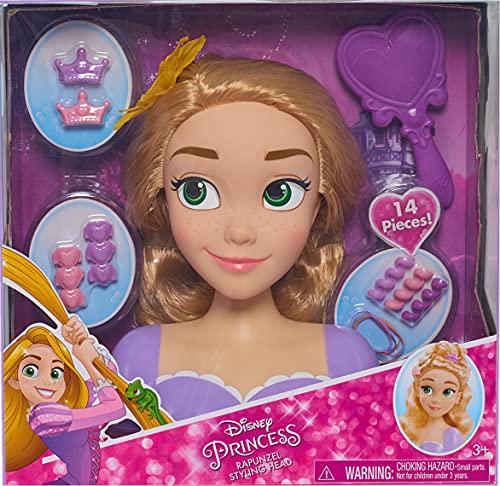 Disney Princess - Rapunzel Deluxe Styling Head - Raiponce Tàªte à Coiffer 30cm (Import Royaume-Uni)
