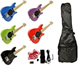 Child's Toy 30' Electric Guitar w/ Built-in Amp - Includes Case & Acc. Kit (Red)