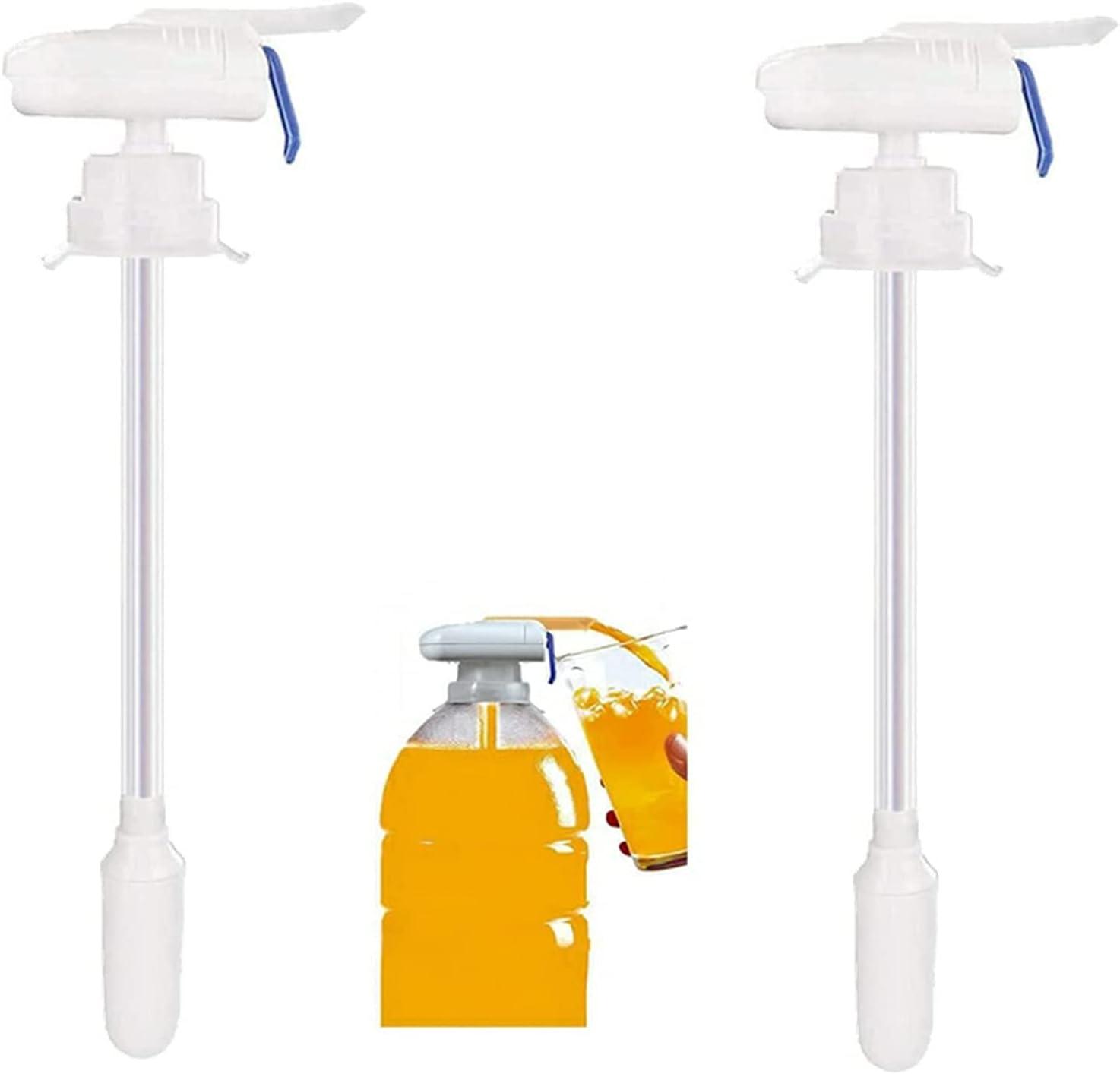 ZWIFEJIANQ Automatic Drink Dispenser, Electric Drink Dispenser Electric Tap, Creative Beverage Drink Dispenser Electric Automatic Drinking Straw for Juice Milk Spill-proof Drinks Suck Tools (2Pcs)