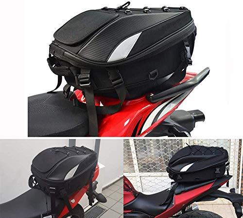 JFG RACING Hecktasche Motorrad/Motorrad-Sitztasche - doppelter Einsatz Motorrad Rucksack Wasserdicht Gepäck Taschen Motorrad Helm Tasche Aufbewahrungstaschen
