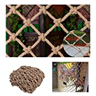 WWWANG Climbing Rope Net Children's Stairs Balcony Safety Net Indoor And Outdoor Railing Safety Net Hanging Net Fence Net Cat Net Hanging Clothes Net Retro Bar Decoration Net
