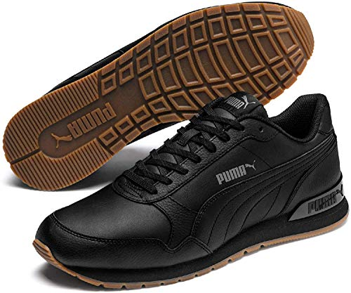 Puma Unisex-Erwachsene ST Runner v2 Full L Sneaker, Schwarz Black Castlerock White, 40 EU