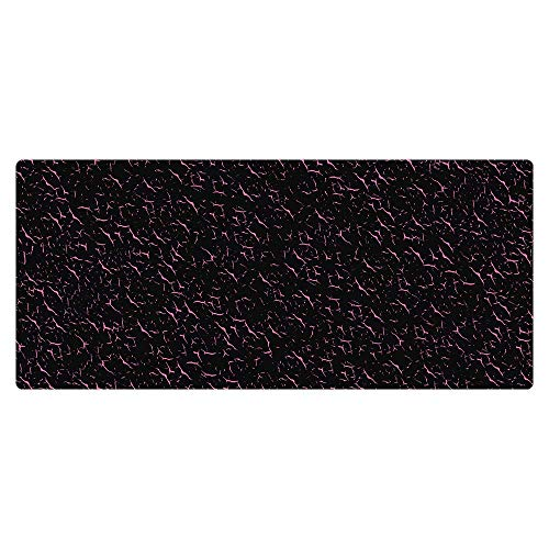 Kraken Keyboards XXL Extended Gaming Mouse Pad Thick Desk Mat (Black and Pink)