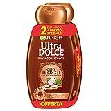 Garnier Ultra Dolce Shampoo al Cacao e Olio di Cocco per Capelli Lisci o da Lisciare, Senza Parabeni, Estratto Naturale, 300 ml [Confezione da 2]