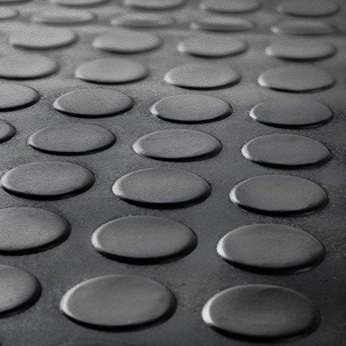 Noir pièce de monnaie en caoutchouc Garage Revêtement de sol   choisir à partir de 12tailles   3mm épais tapis de sol Rouleau   Convient pour club de gym, stable, Terrain de jeu, etc.