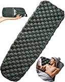 WellaX Ultralight Air Sleeping Pad - Inflatable Camping Mat for...