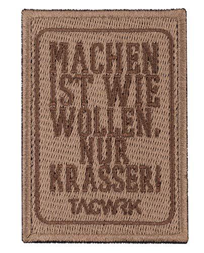 TACWRK Patch Machen-Wollen Coyote Braun