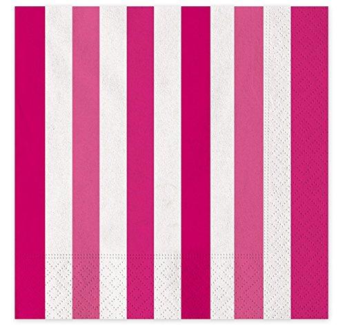 Tovaglioli di Carta 16 pz Stripes Fuxia
