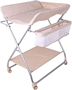Baby Changing Diaper Station  Portable Diaper Station for Newborn  with Mobile Universal Wheel