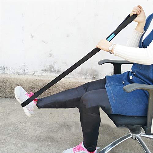 AQzxdc Beinhebergurt mit Webbed-Schlaufen für Hand und Fuß, benutzerfreundlicher Beinheber-Assistent und Riser zum EIN- und Aussteigen aus Betten, Autos und Rollstühlen