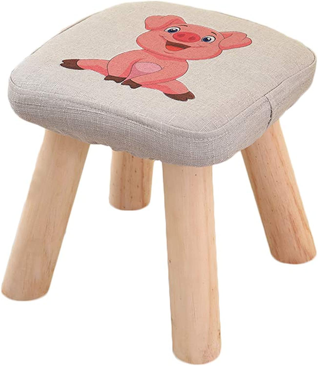 RHHWJJXB Small Stool Home shoes Bench Stool Solid Wood Fabric Fashion Creative Adult Small Chair Sofa Small Wooden Bench (color   C)