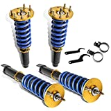 MOSTPLUS Full Coilovers Struts Compatible for 2008-2012 Honda Accord/2009-2014 Acura TSX Shock Absorber Assembly (Set of 4)