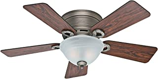 Hunter Fan Company Hunter 51024 Transitional 42``Ceiling Fan from Conroy collection in Pwt, Nckl, B/S, Slvr. finish, inch, Antique Pewter