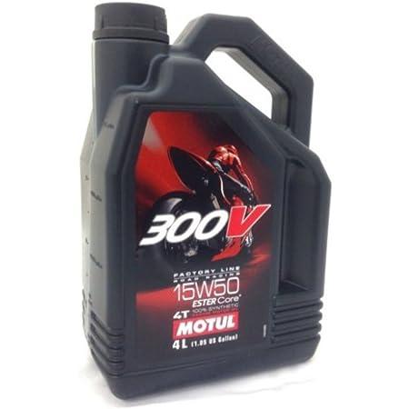 Motul 300V Synthetic Motor Oil - 15W50 - 4 Liter 836241