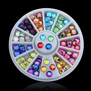 1 Box Little Love Glitter Rhinestones Crystal AB Non Fix Strass Sewing Fabric Garment Rhinestone Nail Art Stone Antique Brass