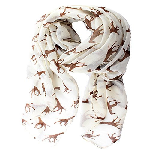 Barara King Scarfs for Women Lightweight Print Shawl Wraps Holiday Voile Scarf Gift