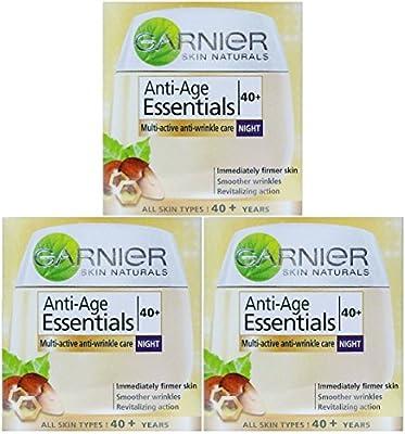 3 x 50ml Garnier Anti-Age Essentials 40+ Night Cream - Anti Wrinkle Care from Garnier