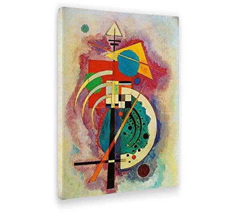 Giallobus - Cuadro - Impresion en Lienzo Kandinsky - Cuadro Abstracto OMAGGIO A Will GROHMANN - Pinturas Modernas de lienzos - Varios formatos - 50 x 70 CM
