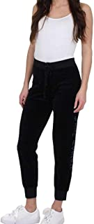 Juicy Couture Women's Track Velour Gothic Crystals Zuma Pants