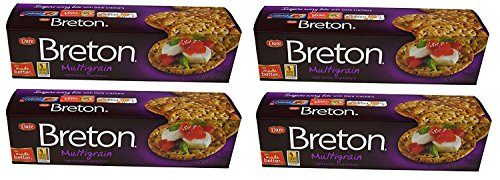 Dare Breton Crackers, Multigrain Party Snacks with no Artificial Flavors and 8 Grams of Whole Grains per Serving 8.8 Ounces (Pack of 4)
