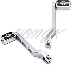 HONGK- Chrome Aluminum Heel/Toe Shift Levers with Skull Shifter Pegs Compatible with Harley Davidson Heritage Softail FLST 1986-later [B07FDKPVMN]
