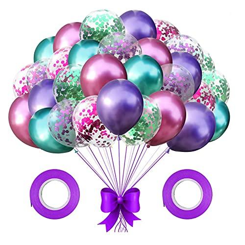 Coriandoli metallici Palloncini,30 Palloncini Lattice Coriandoli Metallici,Palloncini Compleanno Coriandoli,Matrimonio Palloncini,per Compleanno,Battesimo Decorazioni (rosa)